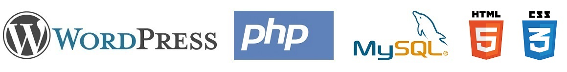 We use Wordpress, php, MySQL, HTML5, CSS3 and other industry standard tools.